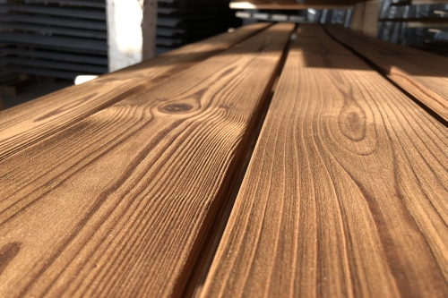 Brushed thermowood