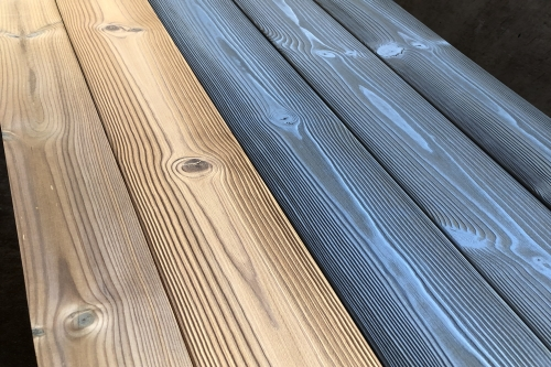 Brushed/not brushed thermowood - oiled/not oiled
